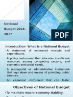 Presentation on an Analysis on the Education Sector of National Budget 2016-2017