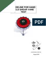 Guideline for Hand Held Shear Vane Test