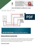 Regulación de instalaciones individuales de calefacción y agua caliente sanitaria