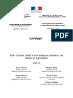 Rapport Sur l'Utilisation d'Azote