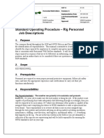 Rig Personnel Job Descriptions