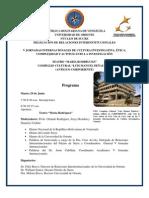 Programa v Jornadas Internacionales de Cultura Investigativa 2010