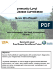 Aagw2010 June 08 Hein Bouwmeester Community Level Crop Disease Surveillance