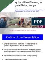 Aagw2010 June 10 Mohammed y Said Participatory Land Use Planning in Kitengela Plains Kenya
