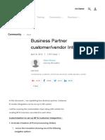 Business Partner Customer_vendor Integration - SAP Blogs