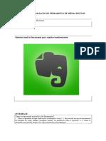 Formulário Evernote