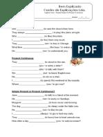 3 - Ficha de Trabalho - Present Simple vs Present Continuos (2)