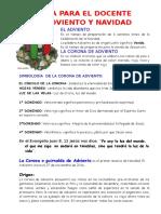 Guía Para Docente Adviento y Navidad. 2016