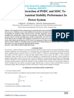Optimized Interaction of PODC and SSSC To Improve the Transient Stability Performance In Power System