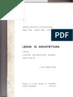 LEZIONI DI ARCHITETTURA Corso Di Caratteri Dell'Architettura Moderna 1967-68-1968_69