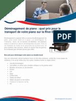 Déménagement de piano à Longueuil