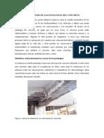 Definicion y Alcanse de Las Patologias Del Concreto