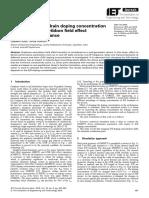 Impact of Source Drain Doping