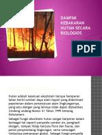 Dampak Kebakaran Hutan Secara Biologios Wasling