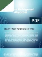Sistem Refrigerasi Absorbsi