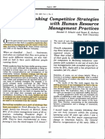 2. Linking Competitive Strat With HR Practice Schuler Jackson 87
