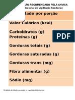 Os Rótulos de Alimentos 2ºV2