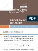 campamento de programacion - Programación Dinámica