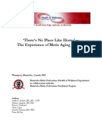 No Place Like Home - The Experience of Metis Aging in Place