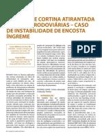 ⭐PROJETO DE CORTINA ATIRANTADA EM OBRAS RODOVIÁRIAS CASO DE INSTABILIDADE DE ENCOSTA ÍNGREME