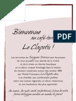Menu Clapotis