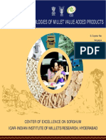 Technologies of Millet Value Added Products