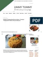 YUMMY TUMMY_ Dindigul Thalappakatti Biryani Recipe _ Dindigul Thalapakattu Chicken Biryani (Biriyani)