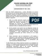 COMUNICADO PNP N° 34 -2016
