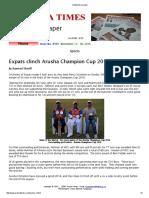 Arusha Challangers Trophy 2016