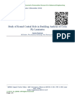 Study of Round Central Hole in Buckling Analysis of Cross Ply Laminates