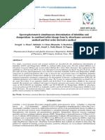 Spectrophotometric Simultaneous Determination of - By Taj Pharma