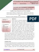 Taj Pharma Evaluation of Laxative and Antipyretic Activity of Various Root Extracts of Gmelina Arborea Roxb.