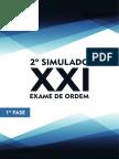 2o Simulado 1a Fase XXI OABdeBolso Novo