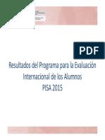 resultados PISA15