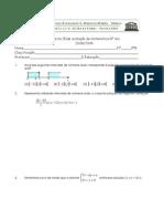 9º ano 3º Teste Matemática (A) 08-09-  Equações do 2º grau, Função de Proporcionalidade Inversa Profº TM
