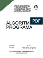 Algoritmo y Programa (Trabajo)