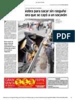 Las Últimas Noticias Socavon en Carretera