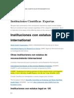 CEM Instituciones Con Status Legal