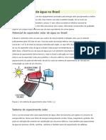 Aquecedor Solar de Água No Brasil