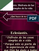 Eclesiastés IBE Callao #8