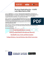 Thevenin Norton Equivalencies - GATE Study Material in PDF