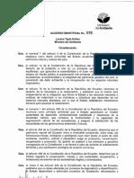 Acuerdo Ministerial Nro. 065 Del 16-04-15 Incentivo a La Restauración Forestal.