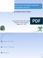 Exposicion Gompertz Adenocarcinoma de Utero