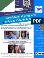 Nueva entrevista a Alex Castillo. Imagen Pública y RRPP