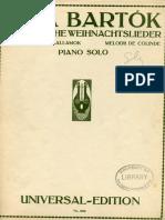 Bartok Romanian Carols for Piano Solo (1)