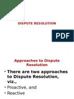 Dispute Resolution PPT