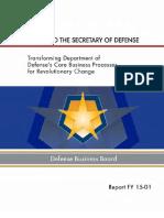 Defense Business Board 2015 Report