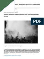 conexaojornalismo.com.br-Aviões de fazendeiros despejam agrotóxico sobre tribo Guarani e Kaiowá