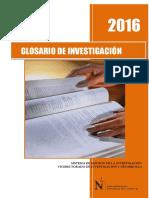 2016 Glosario de Investigación