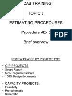 Estimating Procedures Training
